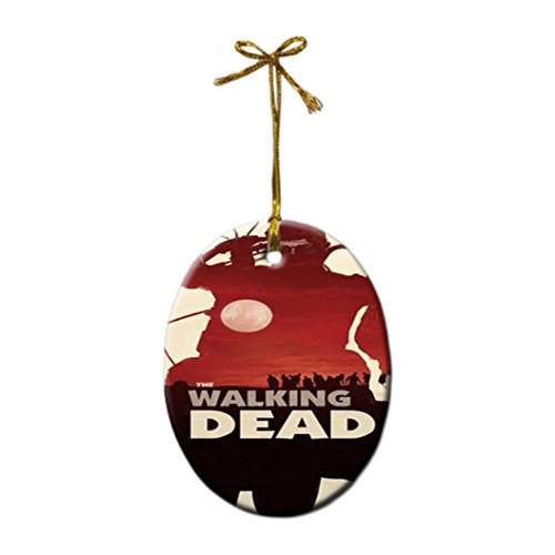 The Walking Dead Porcelain Gift Christmas Ornaments
