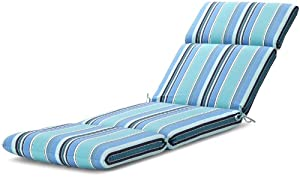 Strathwood Basics Hardwood Chaise Lounge Sunbrella Cushion, Dolce Oasis by Casual Cushion Corp.