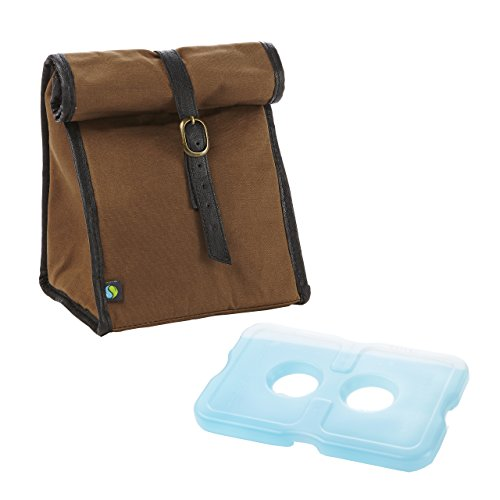 fit-and-fresh-mens-classic-roll-top-insulated-lunch-bag-with-ice-pack-dark-brown