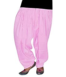 Shiva Collections baby pink cotton patiala salwar