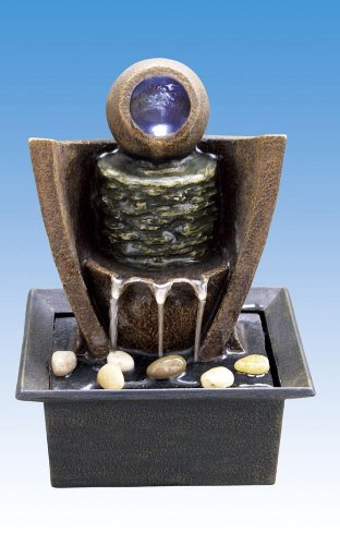 Cheap Water Fountain with LED Crystal Glass Ball (B0046IIWDY)