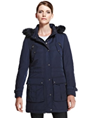Autograph Luxury Detachable Hood Padded Parka with Stormwear™