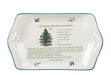 #!Cheap Spode Christmas Tree Pierced Recipe Tray, 12-Inch
