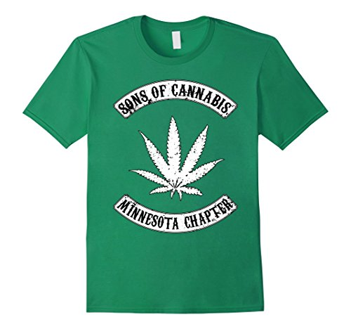 Men's Minnesota Marijuana Leaf Tshirt