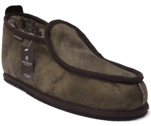 Shepherd Slippers Luxury Sheepskin Arne Style Slipper 100% Genuine Leather Sizes 7.5-11 UK (EU 41-46) # SH-475 Antique Stone