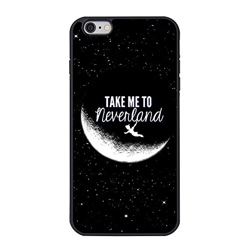 Peter Pan iPhone 6 plus Case,Peter Pan Take me to Neverland Cell Phone Case for iPhone 6 plus/6s plus 5.5