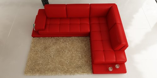 ledersofa leder sofa eckgarnitur palermo in rot wohnlandschaft couch hempels sofa. Black Bedroom Furniture Sets. Home Design Ideas