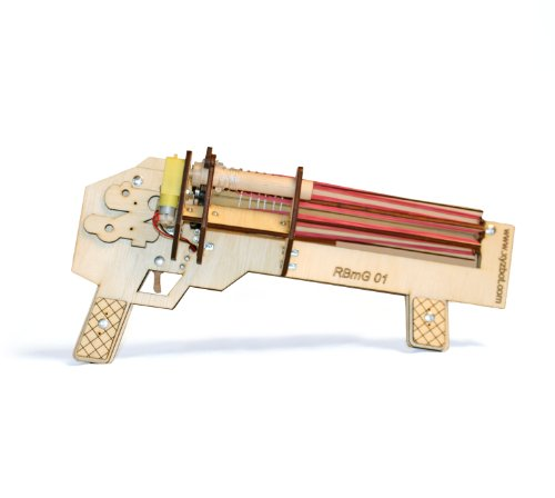 Rubber Band Machine Gun - Rapid Fire - Shoots Up to 10 Rounds Per Second - Ultimate Office Warfare - Made in Colorado, USA
