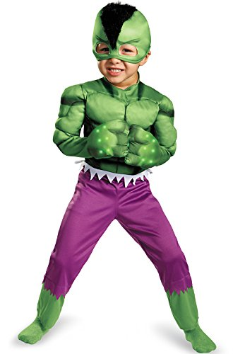 Disguise Marvel Hulk Light-Up Motion Activated Boys Costume, One Color, 4-6X (Hulk Costumes For Kids)