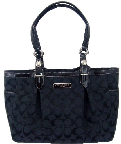 Coach Gallery 12 cm Signature East/West Black Tote Handbag