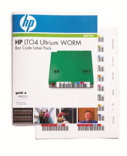 HP Ultrium 4 WORM Bar Code Label Pack - Étiquettes code à barres