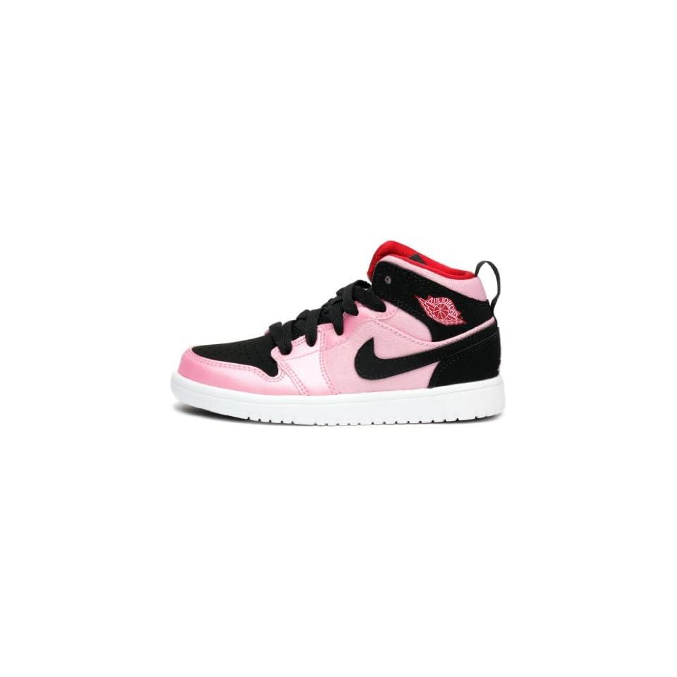 the best attitude 37e8a f0c1c Jordan Girls 1 Mid Flex Preschool Pink Black 555111 608 on PopScreen