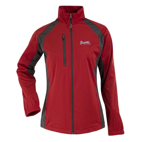 MLB Atlanta Braves Women's Rendition Jacket, Dark Red/Gunmetal, Large at Amazon.com