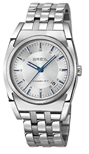 Breil Unisex Quartz Watch with Silver Dial Analogue Display and Silver Stainless Steel Bracelet TW0972