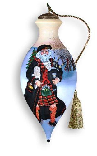 Ne'Qwa Art Scotland Santa – Glass Ornament Hand-Painted 750-NEQ