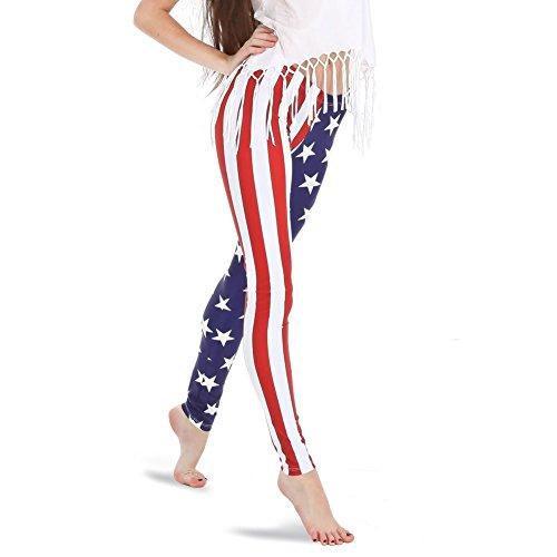Alexandra American Flag Leggings Large ()