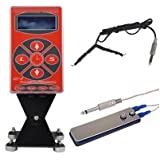MP-5 Digital LCD Tattoo Power Supply Liner/Shader Foot Pedal and Clip Cord