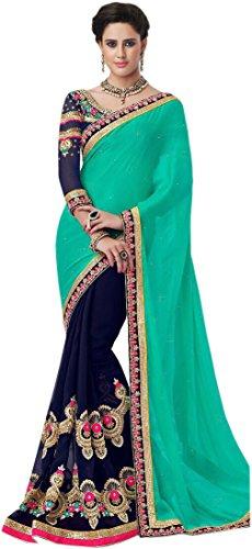 Kanha Fashion Woman S Heavy Embroidery Work Saree Price In India