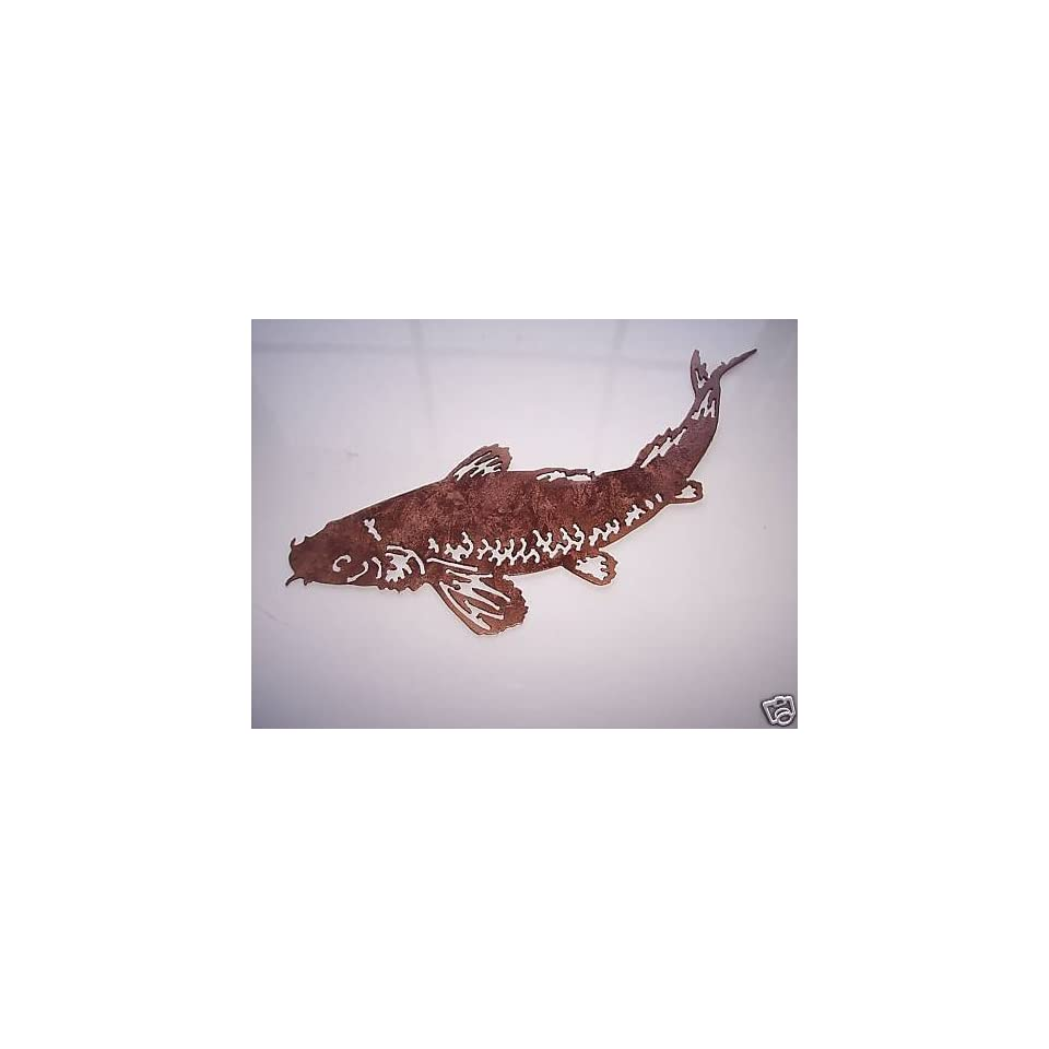 Koi fish metal wall art home kitchen decor home kitchen for Koi metal wall art