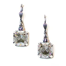32d4b29bd Catherine Popesco Sterling Silver Plated Shade Swarovski Crystal Drop  Earrings: Jewelry
