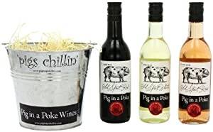 Pig in a Poke Mini Wine Gift Bucket (Case of 3 x 187ml)