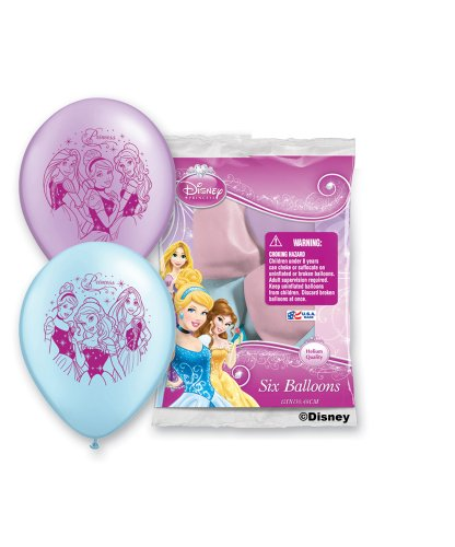 "Pioneer National Latex Princess 6 Count 12"" Latex Balloons, Assorted"