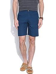 Hubberholme Slim Fit Shorts (H6806_36_Peacock Blue)