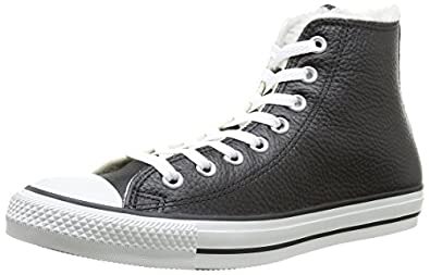 Converse Chuck Taylor All Star Shearling Hi 132125 Unisex Laced Leather Trainers Black - 3