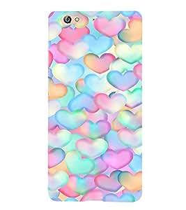 EPICCASE Pink Hearts Pattern Mobile Back Case Cover For Gionee S6 (Designer Case)