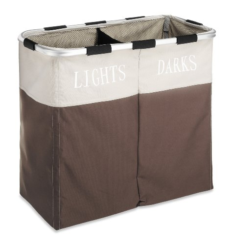 whitmor-easycare-double-2-section-laundry-hamper-java