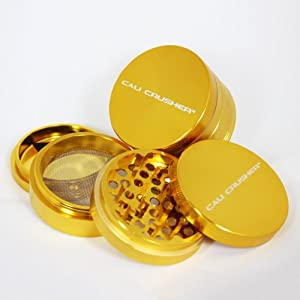 Large Authentic Cali Crusher Ultra Premium Herb Grinder 4 Piece GOLD ...