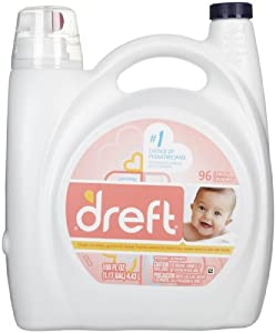 Dreft Liquid 2x Concentrated Laundry Detergent -  96 Loads