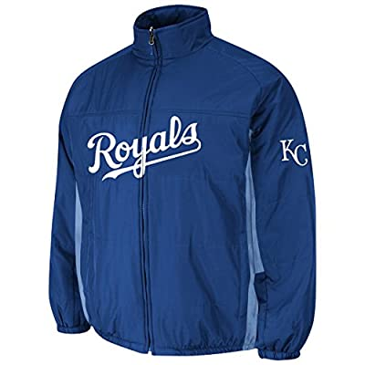 Kansas City Royals Royal Double Climate On-Field Jacket by Majestic