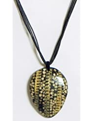 Coconut Shell Pendant With Cord - Coconut Shell - B00K4F7N60