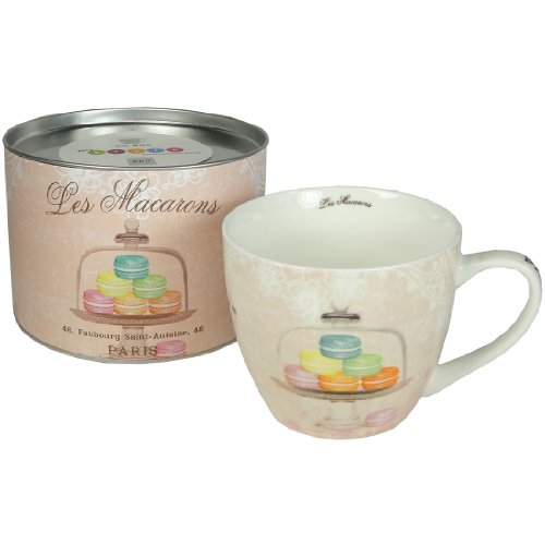 Paperproducts Designs 18-Ounce Mug In Gift Box, X-Large, Les Macarons