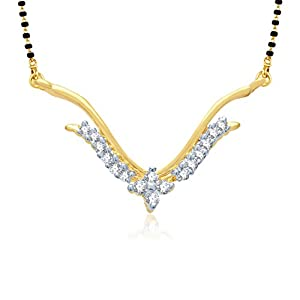 VK Jewels Traditional Wedding Mangalsutra Pendant   MP1004G [VKMP1004G] available at Amazon for Rs.199