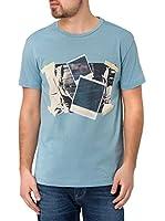 Cross Camiseta Manga Corta (Azul Claro)