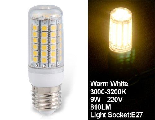 Samati Huimin 9W 220V E27 69X5050Smd Epistar Warm White Led Corn Bulb
