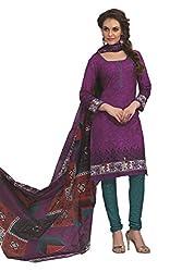 Gugaliya Women's 100 % Cotton UNSTICHED Salwar, Kameez & Dupatta Suit (SJ- 3127)