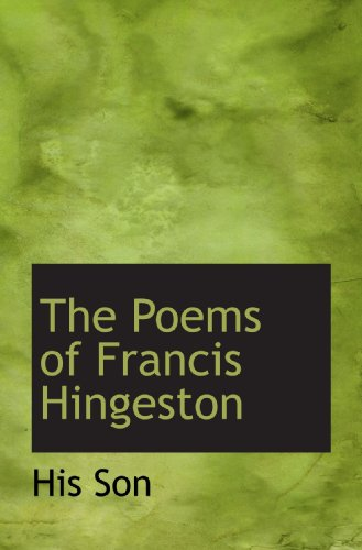 The Poems of Francis Hingeston