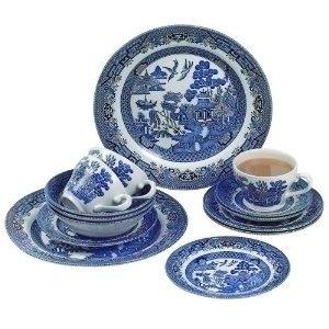 Churchill China Blue Willow 20 Piece Dinner Set