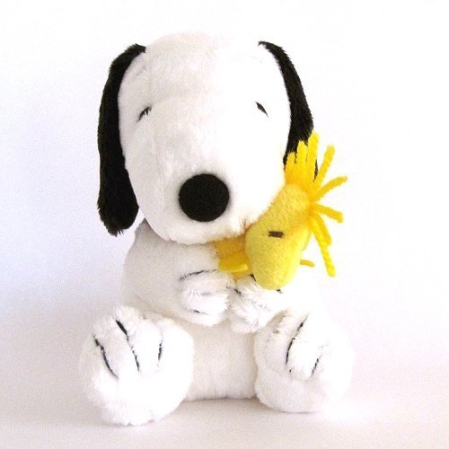 "Peanuts Snoopy With Woodstock 5.5"" Tall Plush Doll front-408097"