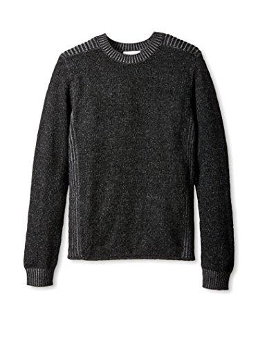 Christopher Fischer Men's Two Tone Crew Neck Cashmere Sweater