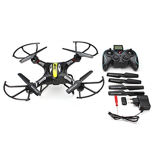 KINGSO JJRC H8C 24G 4CH 6 Axis RC Quadcopter With 2MP HD Camera RTFBlack - Right Hand Mode