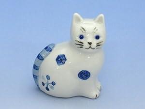 座り猫 横 白 (大野香澄作品)