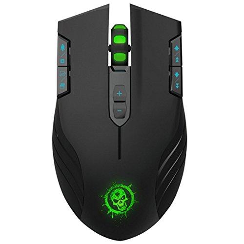 Drahtlose Gaming Maus, ShiRui C30 Professionelle Gaming Maus E-Sport Mäuse 4 einstellbare DPI Ebenen mit 11 Tasten 3 col unsere LED-Licht für Windows und Mac