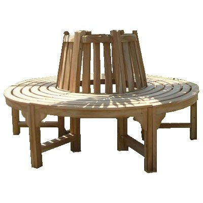 Trendy-Home24 komplette volle Baumbank aus Teakholz Massivholz Holzbank Gartenbank ca. 150 cm breit Teakholz Rundbank günstig kaufen