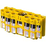 Storacell Powerpax A9 Multi-Pack Battery Caddy, Yellow