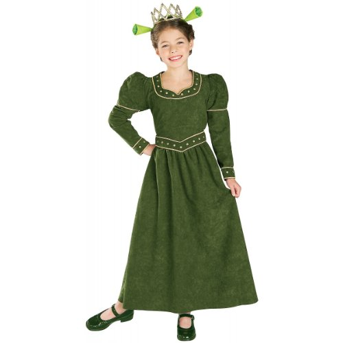 [Deluxe Princess Fiona Costume - Large] (Girls Princess Fiona Costumes)
