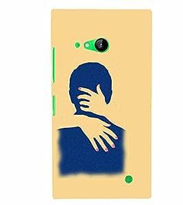 PrintVisa Hot & Sexy Couple 3D Hard Polycarbonate Designer Back Case Cover for Nokia Lumia 730